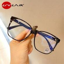 UVLAIK – lunettes optiques carrées transparentes, monture anti-lumière bleue, soins de Vision, surdimensionnées, pour ordinateur