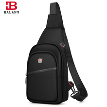 BALANG Crossbody Bags for Men Messenger Chest Bag Pack Casual Bag Waterproof Nylon Single Shoulder Strap Pack 2020 New Fashion