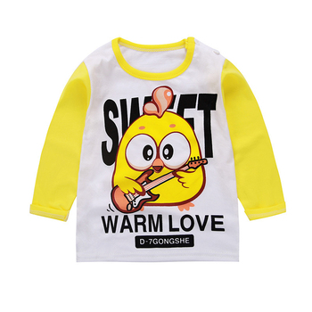 New toddler children kids baby boys girls T-shirt clothes graphic Long sleeve t shirt Cotton Cartoon Letter Print Tops Clothing image
