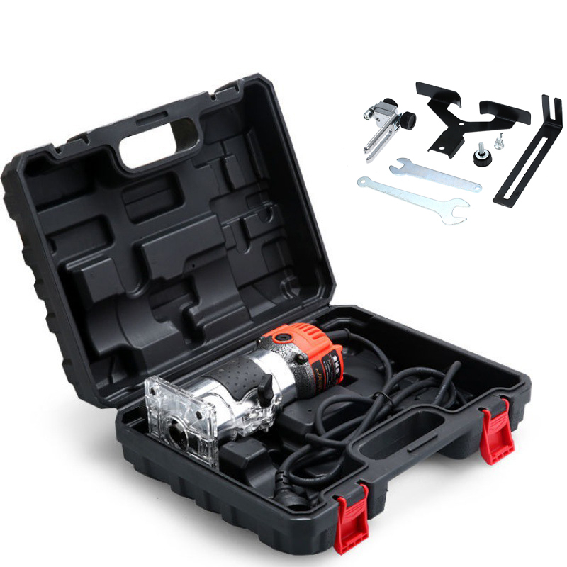Realmote 220V 680W Elektrische Trimmer Handheld Laminat Rand Collet Holz Router Holz Fräsen Gravur Stoßen Maschine