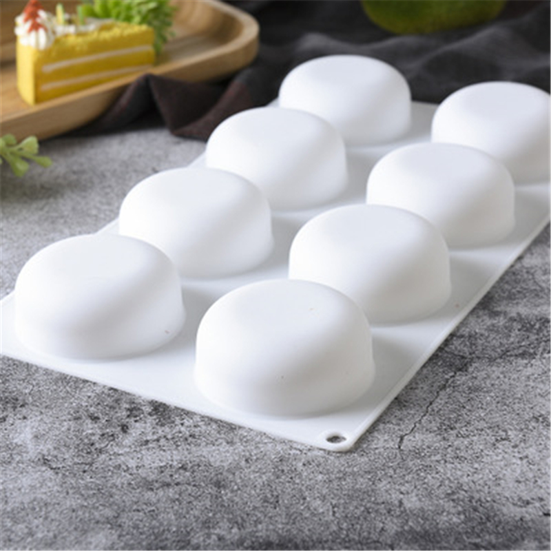 100% High Quality Flat Round Silicone Mousse Cake Mold DIY Baking Mold Silicone Fondant Mold Moon Microwave Oven Baking Tray