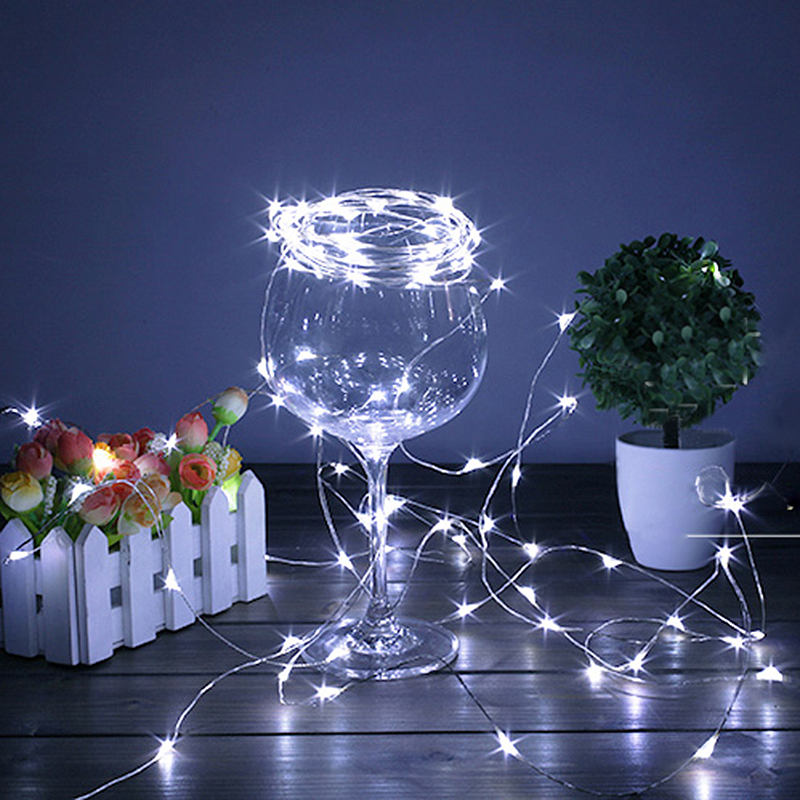 Holiday 2M 5M LED Strip Lighting For Fairy Christmas Tree Wedding Party Decoration Lamp Waterproof Copper Wire LED String Lights