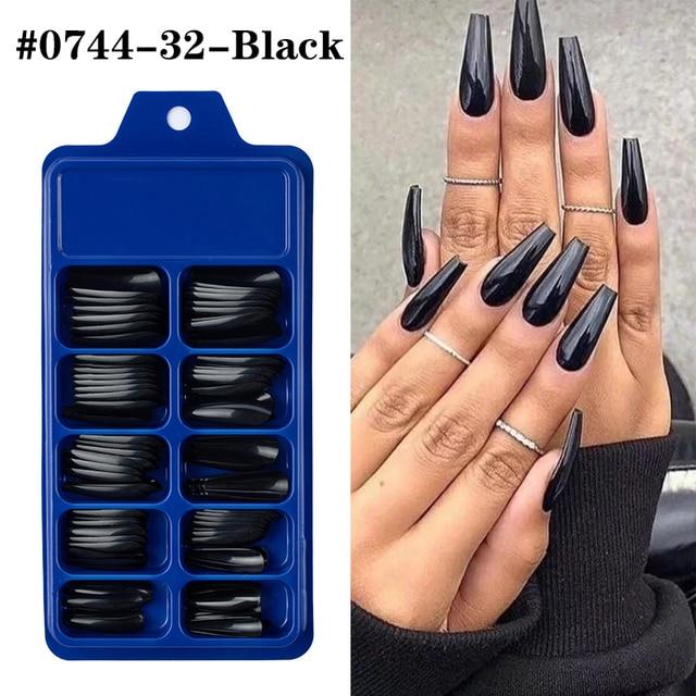Купить 100 шт акриловые накладные ногти овальные профессиональные накладные картинки цена