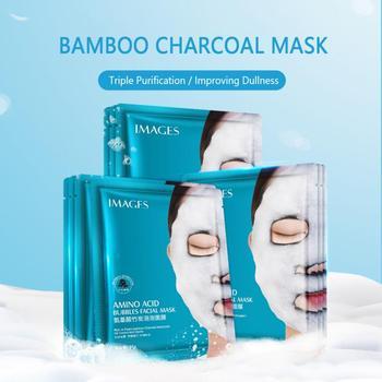 1/2/3PC Face Mask Amino Acid Bamboo Charcoal Bubble Masks Whitening Moisturizer Skin Care Anti Aging Vitamin Face Care TSLM1