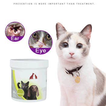 100 Pcs Pet Cat Dog Wet Wipes Cleaning Eye Ears Tear Stain Remover Gentle Non Intivating PH6.8 Remover Tear Marks Sand Products