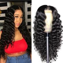 Brazilian 180% Density Malaysian loose Wave Lace Closure Wig 4x4 Human Hair Wigs 8-22 Inch Closure Lace Wigs For Women