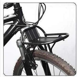 Mountain bike frente rack/v-freio liga de alumínio rack dianteiro/prateleira de bagagem de bicicleta frente bagageiro bicicleta