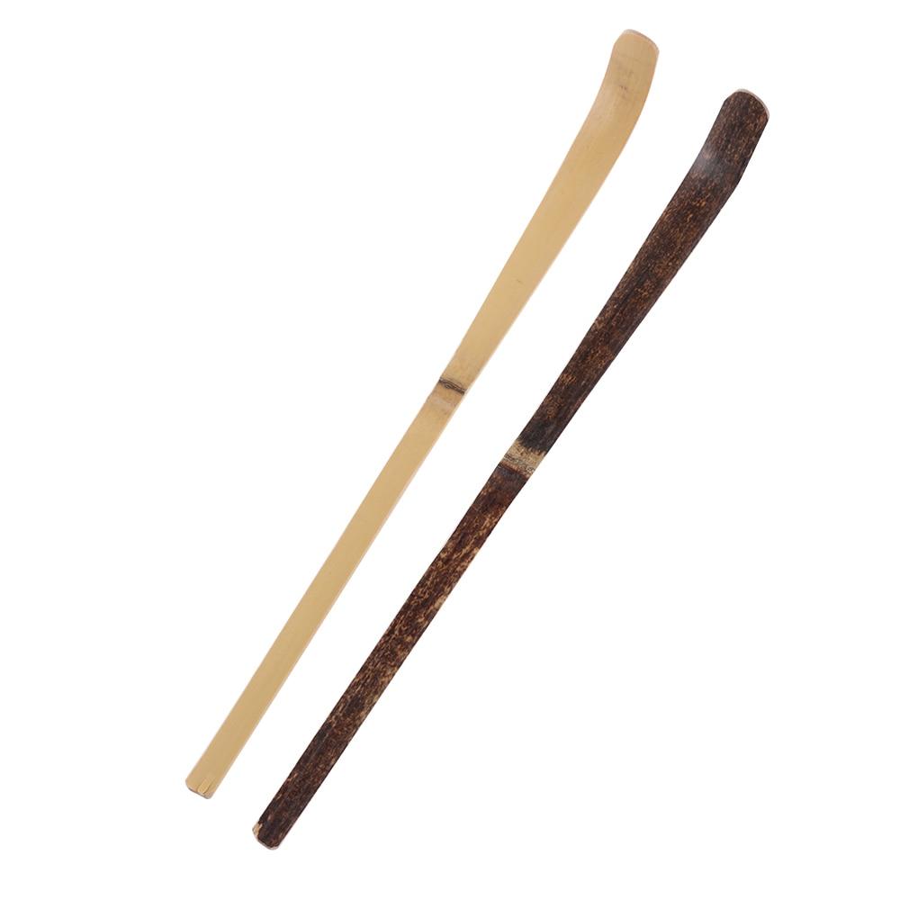 180*10*10mm Wood Cooking Utensil Teaware Spice Gadget Tea Leaf Matcha Sticks Spoon Teaware Black Bamboo Kitchen Tool