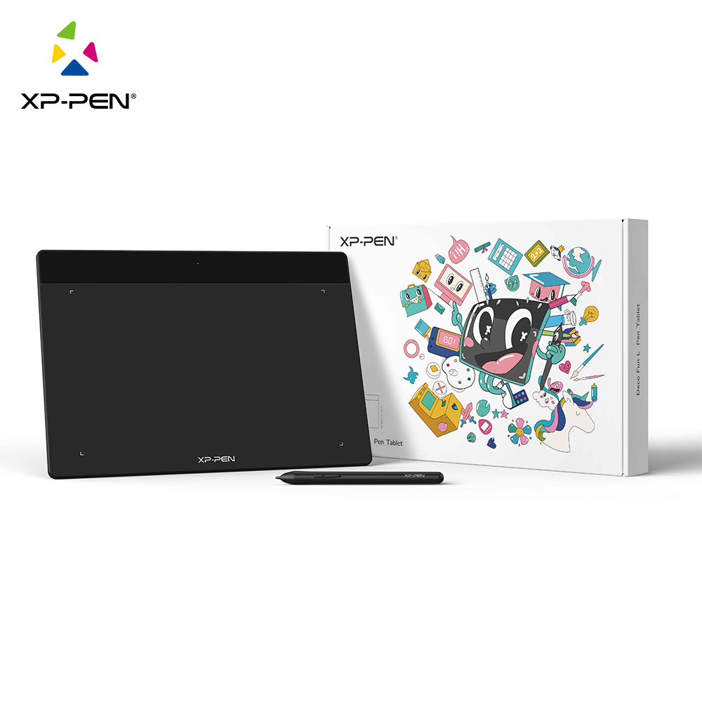 XP-Pen Deco Fun L Graphic Digital Tablet 10 inch for Drawing OSU Online Education Support Android Mac Linux Windows Chrome OS