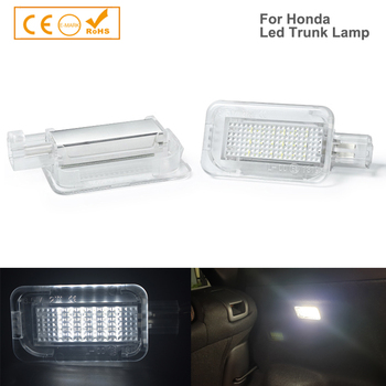 1Pcs 18SMD T10 w5s LED Luggage Compartment Interior Lights for Honda Accord 4D City 4D Civic 3D 4D 5D Hybrid CR-Z Jazz Fit 5D