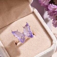 Anel roxo moda popular temperamento doce romntico jias feminino presente de casamento de menina