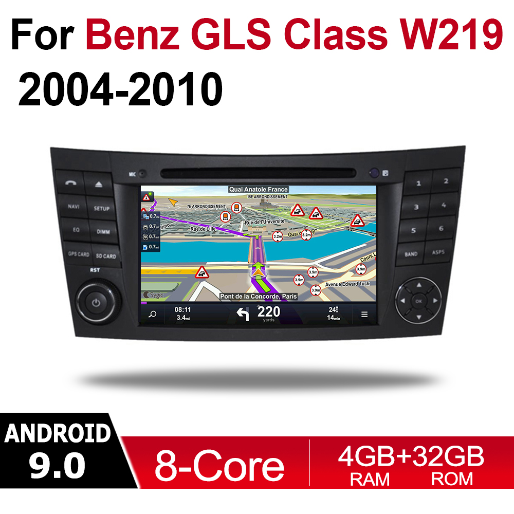 For Mercedes Benz CLS Class W219 2004 2005 2006 2007 2008 2009 2010 NTG Car Android 9 GPS Naviation Multimedia system Radio