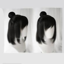 Grandmaster demonicznej uprawy Nie Huaisang peruka włosy syntetyczne impreza z okazji Halloween rekwizyt Cosplay Decor mężczyźni chłopiec prezent 1 sztuk