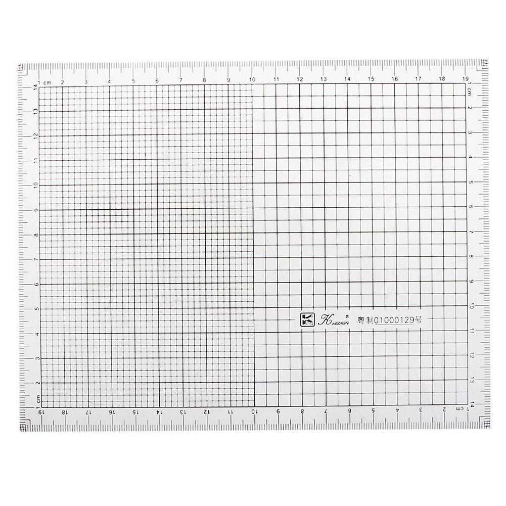 7.9inch Acrylic Coordinate Graph High Precision Grid Ruler Scale Hand Drawing Charting Tool Durable School Supplies