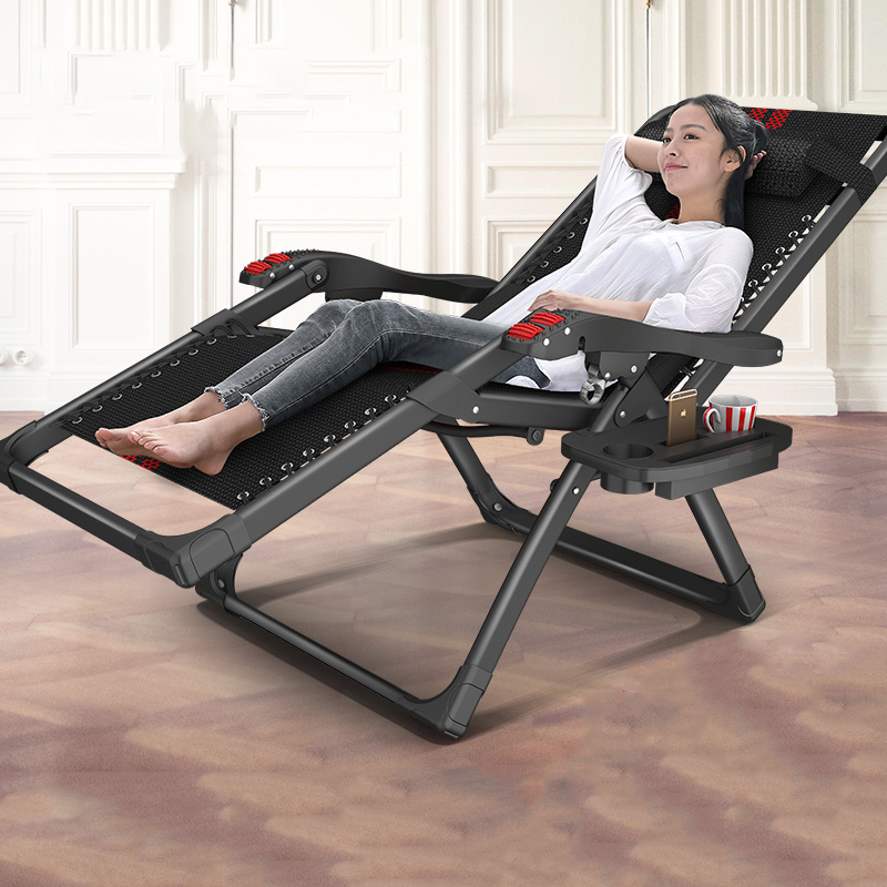 High Load-bearing Household Folding Chairs Office Portable Nap Bed Elderly Pregnant Woman Balcony Leisure Chair