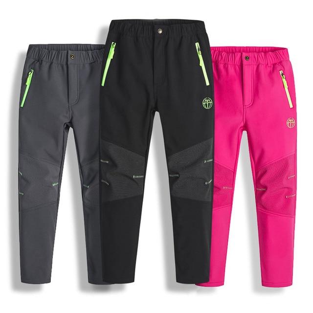Pantalones de invierno para niños y niñas pantalones de lana Polar, impermeables, resistentes al viento, para esquí, para invierno, 2020