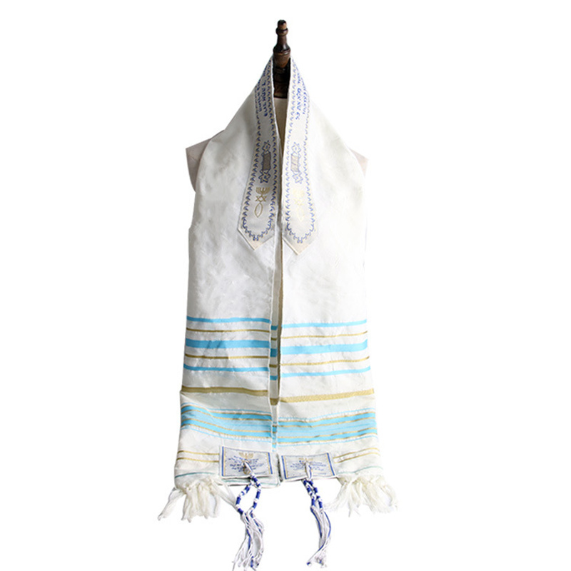Tallit Prayer Scarf Messianic Jewish Talit Talis Bag Prayer Shawl 50x180cm