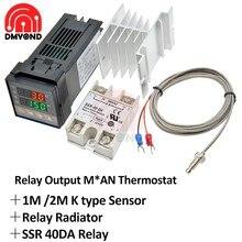Thermostat numérique et régulateur de température, relais Rex C100 Ssr Pid, C100 + 40A SSR + sonde de Thermocouple K
