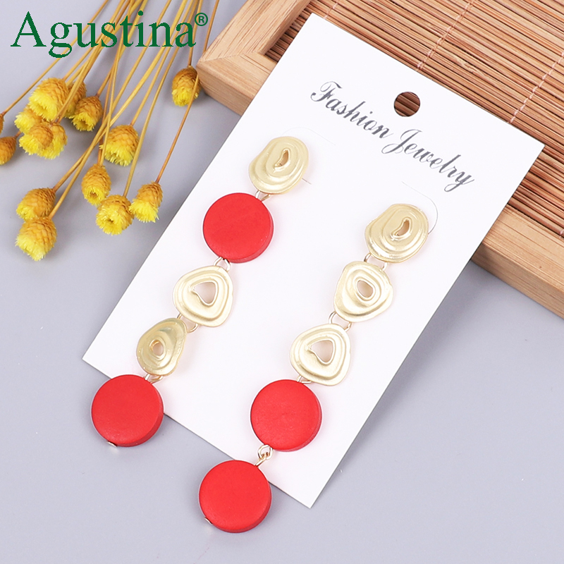2020 Wooden Earrings Fashion Jewelry Drop Earrings For Women Long Earrings Female Small Boho Girl Pendientes Wholesale Funny CC