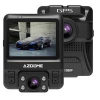 AZDOME Dual Lens Car Dvr Dash Cam Front Full Hd 1080P Rear 720P Video Recorder Car Camera Night Vision Gps
