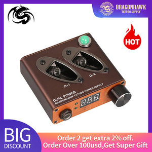 Image 1 - تصميم جديد صغير الوشم صندوق الطاقة توريد Dragonhawk المزدوج كليب الحبل ل ماكينة رسم الوشم التجميلي