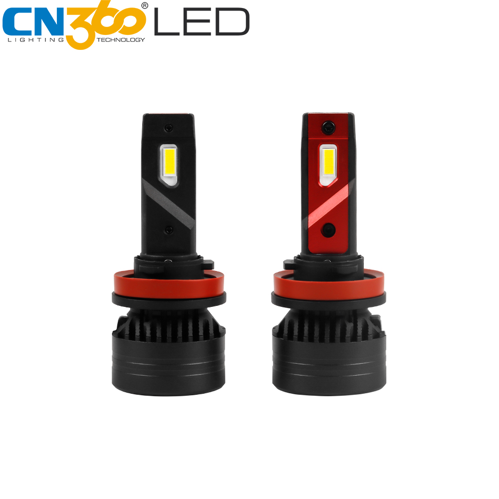 CN360 2pcs H11 <font><b>CANBUS</b></font> <font><b>LED</b></font> Headlight Bulb H8 <font><b>H9</b></font> Error Free <font><b>Led</b></font> Car Light High Lumen Super Bright 45W 10000LM 6500K 12V Mini Bulb image