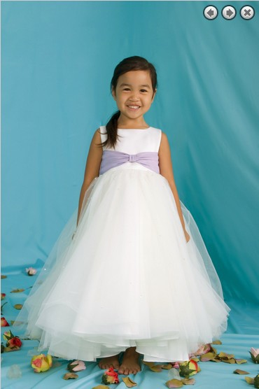 Free Shipping New 2016 New Design Girls' Dress Party Girl's Pageant Gowns Custom Color Princess White Long Flower Girl Dresses