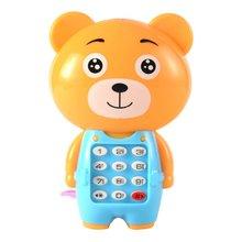 Мультфильм музыка телефон светящийся детский пазл малыш подарок дети музыка телефон практичный портативный износостойкий игрушки