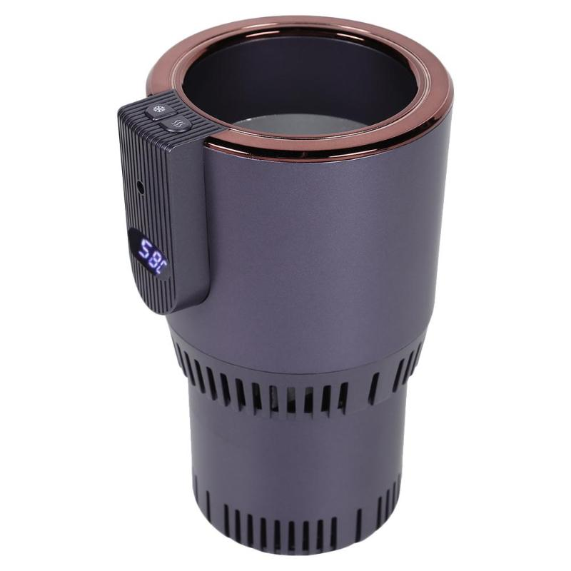DC 12V 2 en 1 voiture chauffage tasse de refroidissement affichage intelligent de la température boisson électrique boisson peut refroidisseur bébé chauffe-biberon titulaire
