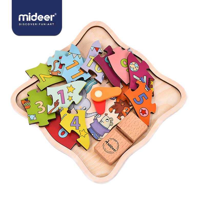 Mideer Детские пазлы игры 12 шт. Часы Номер 5 мм украшения многофункциональная познавательная база деревянные развивающие игрушки для детей