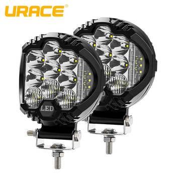 "URACE 5"" 75W Offroad LED Bar 12v Flood Combo Driving Work Light 24V LED Light Bar For off road 4x4 4WD Truck ATV SUV Car Lights"
