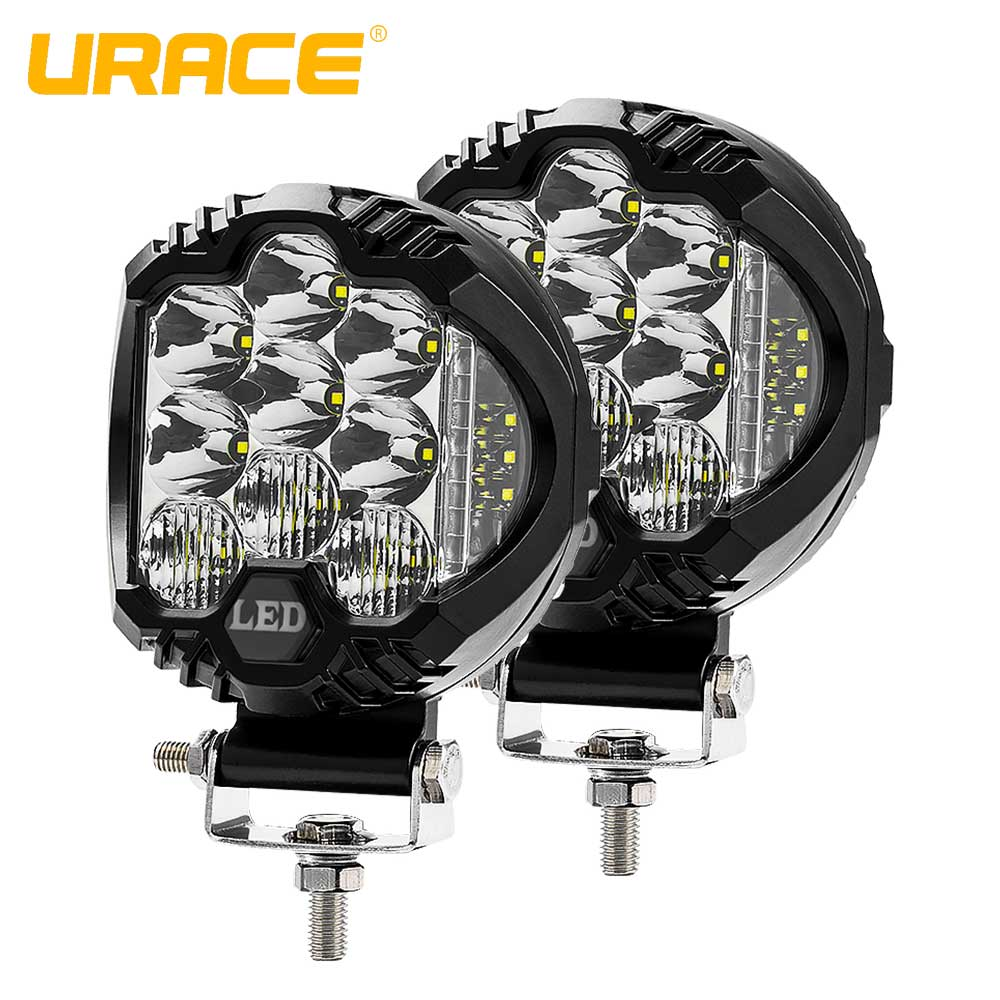 "URACE 5"" 75W Offroad LED Bar 12v Flood Combo Driving Work Light 24V LED Light Bar For off road 4x4 4WD Truck ATV SUV Car Lights"