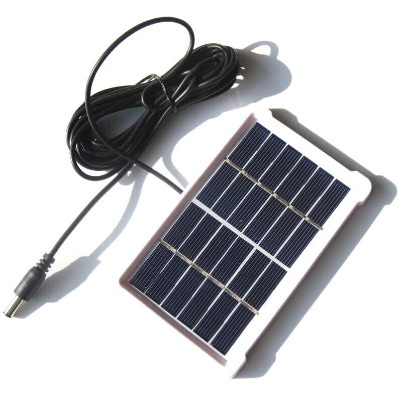 1w 6v policristalino painel solar laminado gl placa com quadro dc linha solar jardim placa de