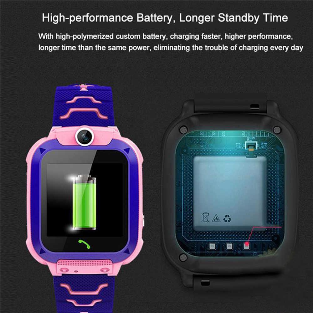 Q12 الأطفال Smartwatch الطفل ساعة الهاتف 1.44 بوصة صوت الدردشة LBS لتحديد المواقع مكتشف محدد المقتفي مكافحة خسر رصد طفل ساعة ذكية