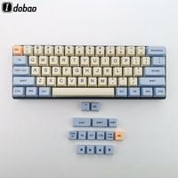Blue Beige Orange Dye Sub 64 68 Thick PBT Keycap Keyset OEM Profile Keycaps For Mechanical Keyboard YD60M XD64 GK64 Tada68
