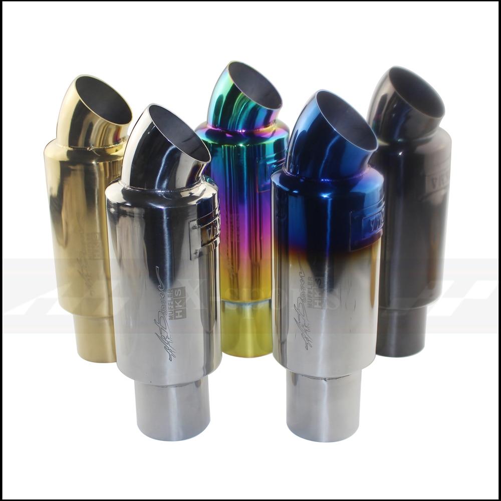 Coche sistema de escape para motocicleta silenciador tubo de cola Universal de alta calidad de acero inoxidable 304: 51mm 63mm silenciadores