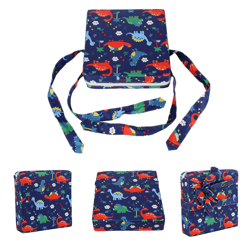 Non Slip Baby Booster Cushion Dismountable Heightening Dining Square Soft Kid Cartoon Washable Thick Toddler Mat Portable