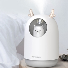 300ML Cute Pet Ultrasonic Air Humidifier Aroma Essential Oil Diffuser for Home Car USB Fogger Mist Maker with LED Night Lamp цена и фото