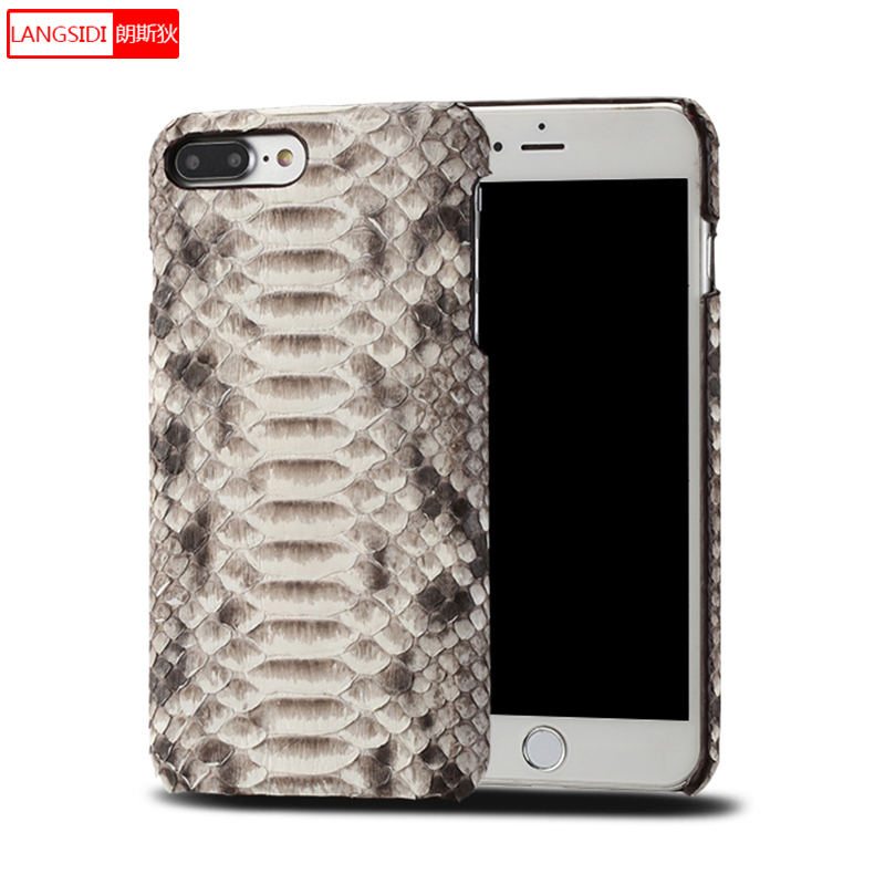 Genuine Leather Python skin Scratchproof phone case for iphone x 6 7 8 8plus 5 5s 11 Pro max Soft touch Luxury protective case