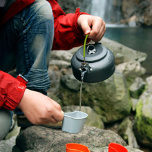 Outdoor Kettle Camping Picnic Water Teapot Coffee Pot 0.8L Aluminum Mountaineering Portable Kettles