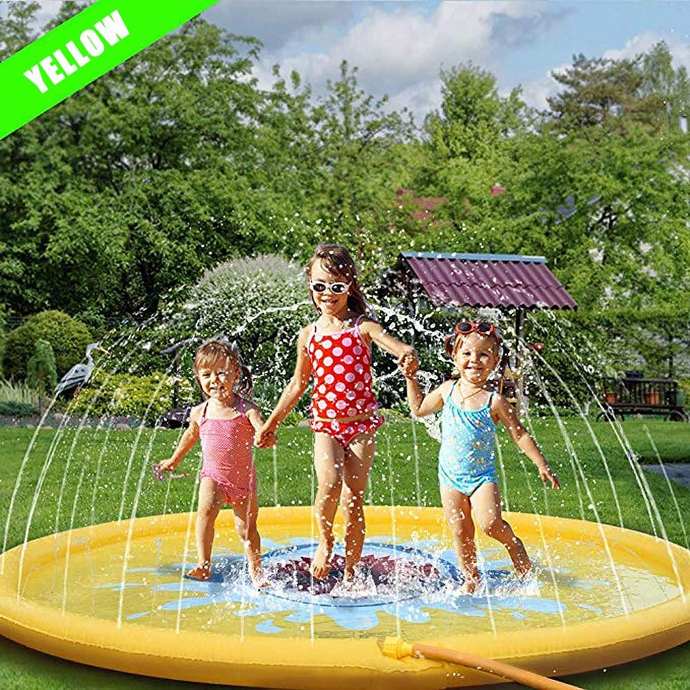 170cm Children'S Outdoor Lawn Beach Inflatable Water Spray Kids Sprinkler Play Cushion Unicorn Rainbow Coconut Cloud Toy