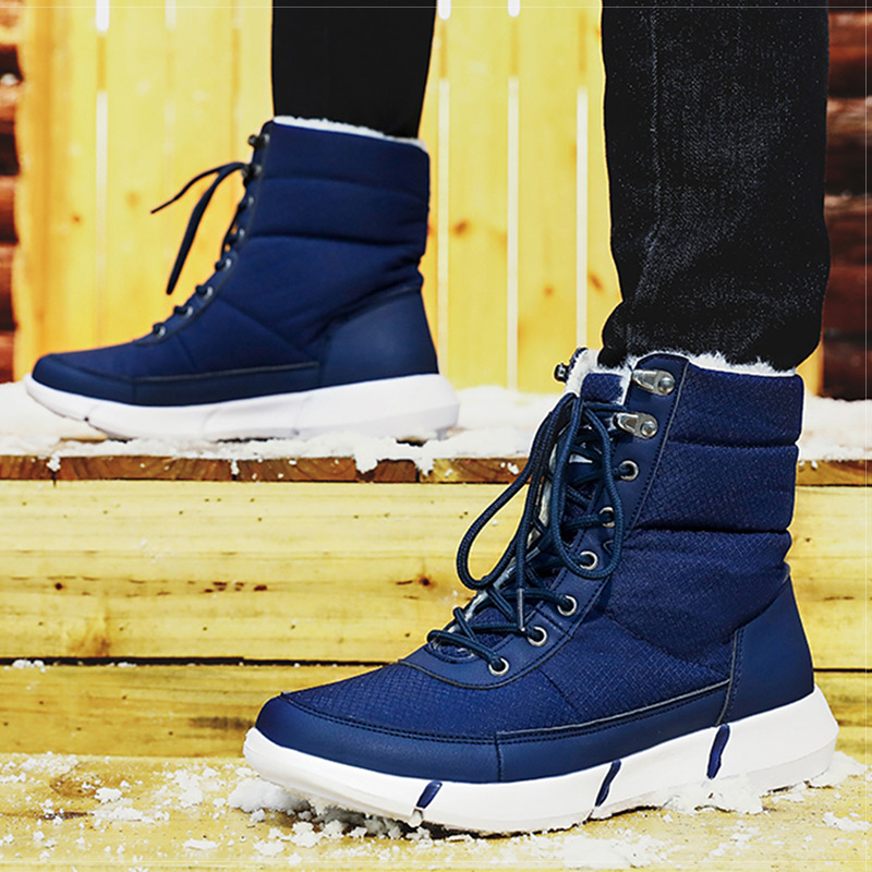 Men Boots 2019 Winter Shoes Men Waterproof Snow Boots With Warm Fur Winter Sneakers Casual Women Mid-Calf Botas Hombre Unisex