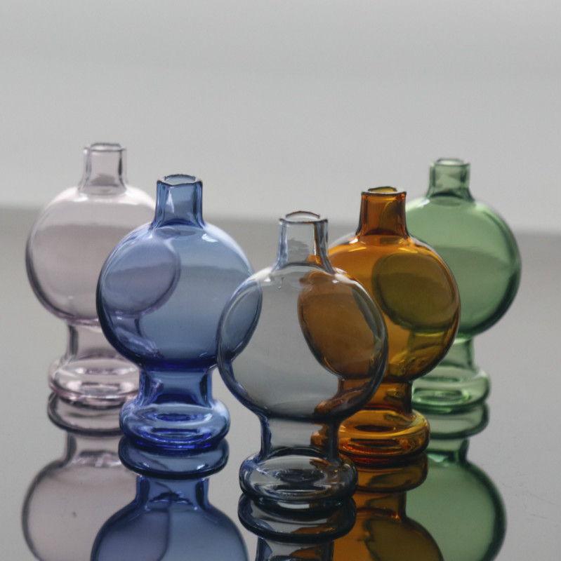 colorful Glass Carb Cap Hat Cap for Thermal Quartz Banger Nails Enail Carb Cap for Glass Bong 2
