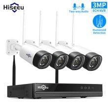 Hiseeu 8CH 3MP bezprzewodowa kamera przemysłowa zestaw CCTV z 10.1
