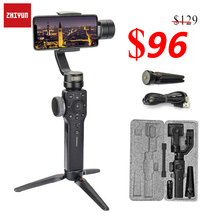 Zhiyun Smooth 4 3 Axis Handheld Gimbal Stabilizer For Smartphone iPhone X 8 7 6 6S Plus Samsung Galaxy S9 S8 S7 Action Camera