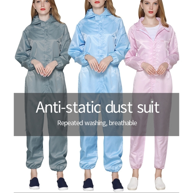 PPE Suit Reusable Gown Protective Clothing Isolated For Human Work Anti-virus Dust-proof And Anti-static Protective Suit 4
