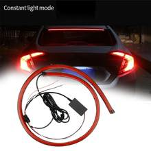 12V Car LED Strip Brake lights 90cm Rear Tail Warning Light High Mount Stop Lamp Flow Waterproof Auto Day Interior Accessories(China)