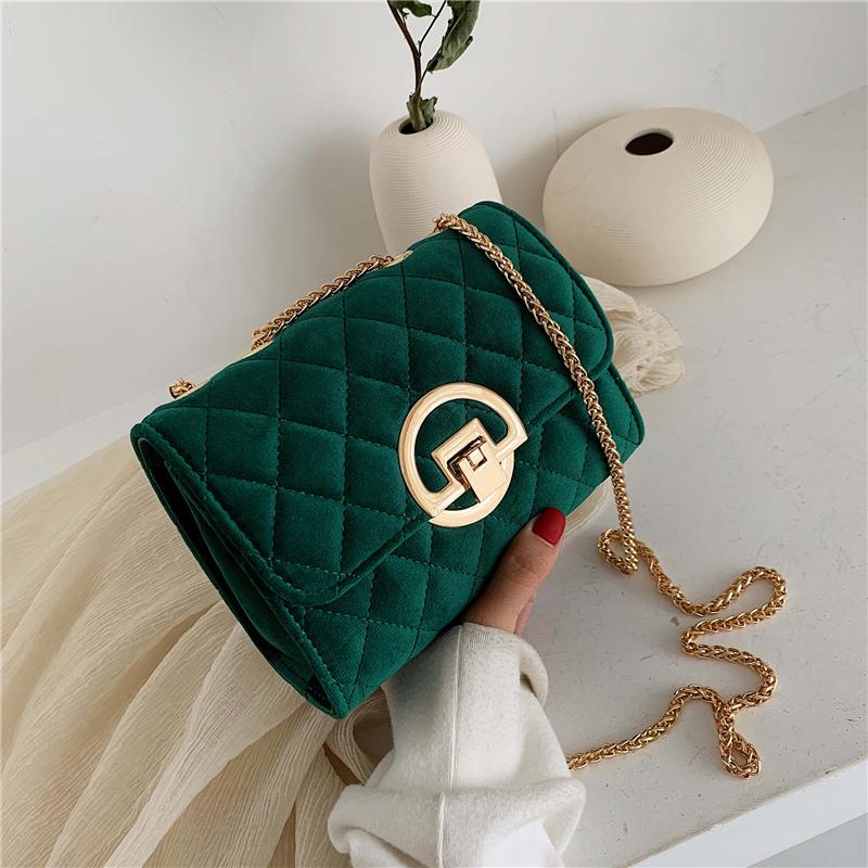 Vintage-Fashion-Female-Plaid-Square-Bag-2020-New-Quality-Velvet-Women-s-Designer-Handbag-Lock-Chain (2)