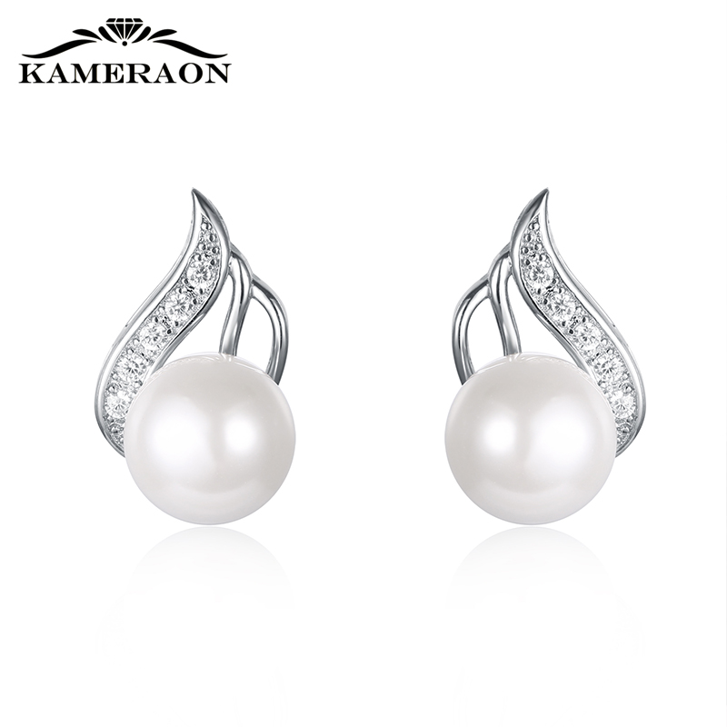 Women's Pearl Earrings Crystals Beautiful Designer Hanging Drop Wedding Earrings 925 Silver Jewelry Catkins With Pearls