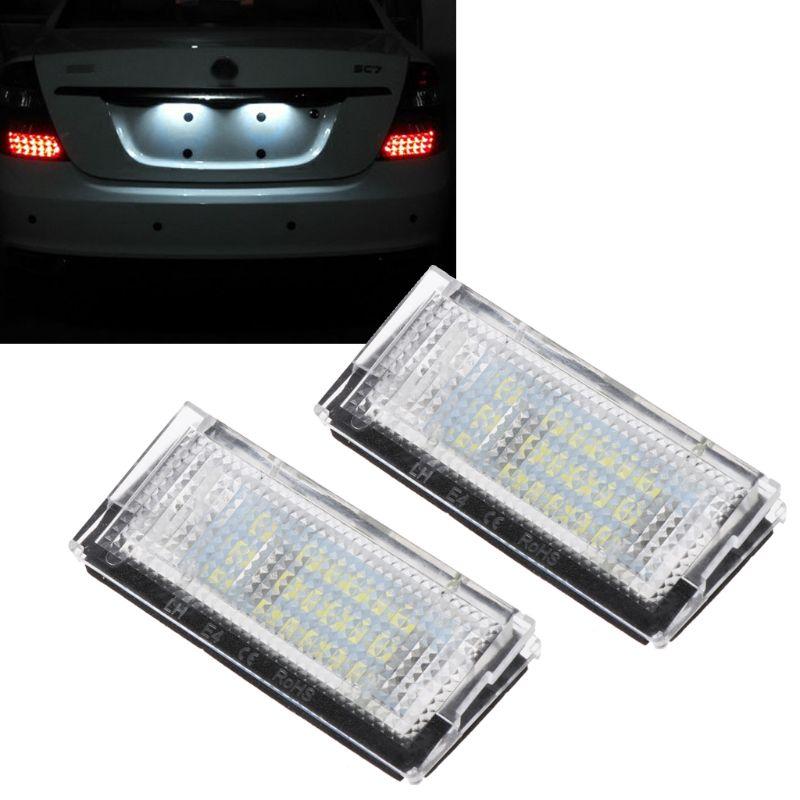 2x White 3528 18LED License Plate Lights For BMW E46 4D 5D Number 323i 325i 328i